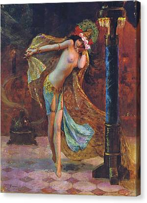 Dance Of The Veils Canvas Print by Gaston Bussiere
