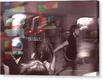 Dance Swirl Canvas Print by Angela Williams Duea