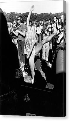 Dancer At Vietnam War Protest Canvas Print by Underwood Archives Adler