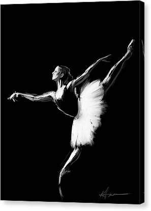 Dancer Canvas Print by H James Hoff