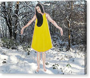 Dancer In The Snow Canvas Print by Patrick J Murphy
