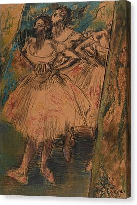 Dancer In The Wing Canvas Print by Edgar Degas