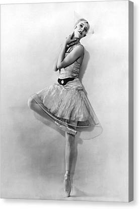 Dancer Nikitina At Monte Carlo Canvas Print by Underwood Archives