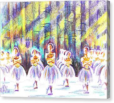 Dancers In The Forest Canvas Print by Kip DeVore