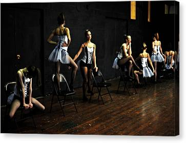 Dancers On Stage Canvas Print by Jon Van Gilder