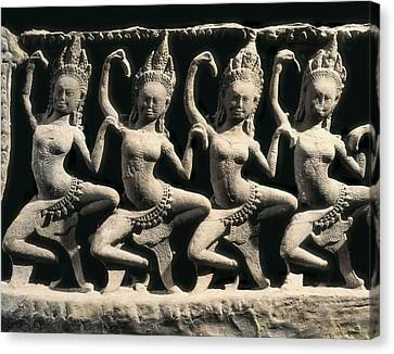 Dancing Apsaras. 13th C. Khmer Art Canvas Print by Everett