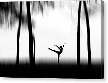 Dancing Canvas Print by Bocah Bocor