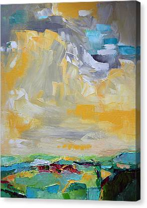 Dancing Clouds  Canvas Print by Becky Kim