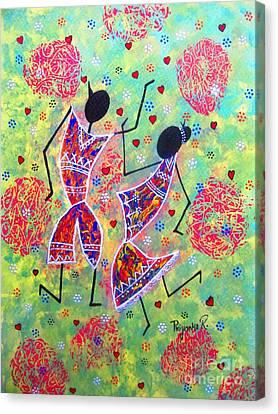 Dancing Couple  Canvas Print by Priyanka Rastogi