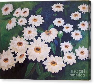 Dancing Dasies Canvas Print by Lucia Grilletto