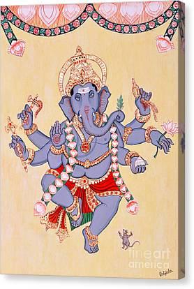 Dancing Ganapati Canvas Print by Pratyasha Nithin