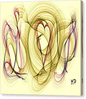 Dancing Heart Canvas Print by Marian Palucci-Lonzetta
