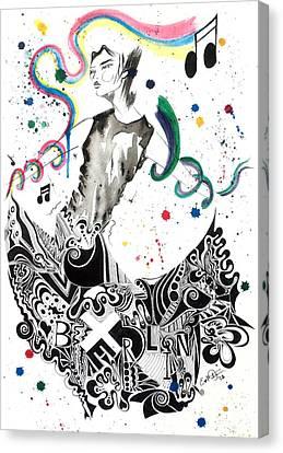 Dancing In Berlin Canvas Print by Oddball Art Co by Lizzy Love