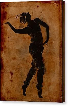 Dancing In Greek Canvas Print by Sarah Vernon