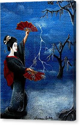 Dancing In The Dark Canvas Print by Mareen Haschke