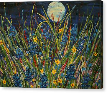 Dancing In The Moonlight Canvas Print by Kathy Peltomaa Lewis