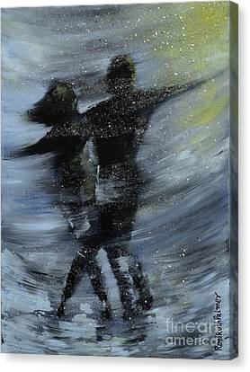 Dancing In The Night Canvas Print by Roni Ruth Palmer