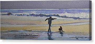 Dancing On The Beach Canvas Print by Jan Cipolla