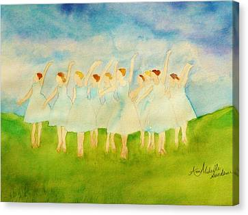 Dancing On Top Of The Grass Canvas Print by Ann Michelle Swadener