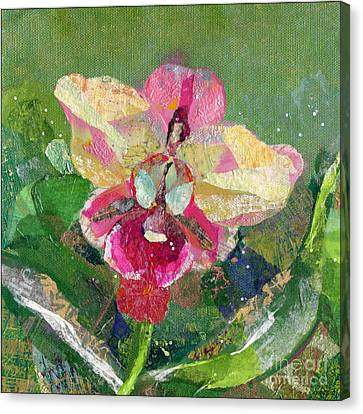 Dancing Orchid I Canvas Print by Shadia Zayed