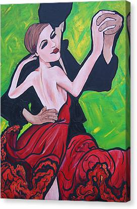 Dancing Passion Canvas Print by Lorinda Fore