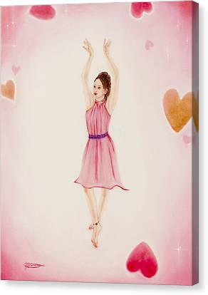 Moving To Your Heartbeat Canvas Print by Jeanette Sthamann