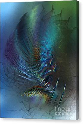 Dancing With The Wind-abstract Art Canvas Print by Karin Kuhlmann