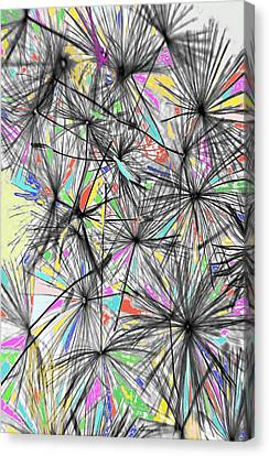 Dandelion Seeds - Abstract Canvas Print by Marianna Mills
