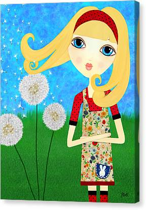 Dandelion Wishes Canvas Print by Laura Bell