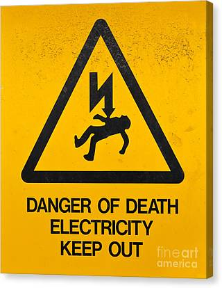 Danger Of Death - Electricity Canvas Print by Shawn Hempel