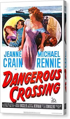 Dangerous Crossing, Us Poster, Jeanne Canvas Print by Everett