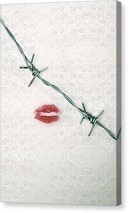 Dangerous Kisses Canvas Print by Joana Kruse