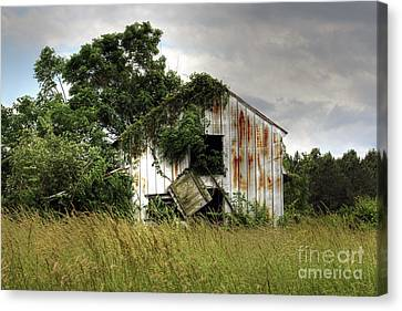 Dangling Barn Door Canvas Print by Benanne Stiens