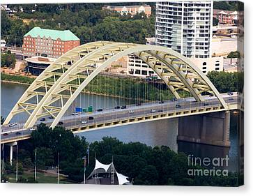Daniel Carter Beard Bridge Cincinnati Ohio Canvas Print by Paul Velgos
