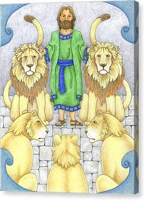 Daniel In The Lions' Den Canvas Print by Alison Stein