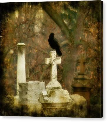 Dark Autumn Canvas Print by Gothicolors Donna Snyder