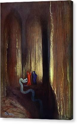 Dark Cavern, 1906 Canvas Print by Hermann Hendrich