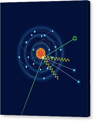 Dark Matter Colliding With An Argon Atom Canvas Print by David Parker