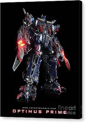 Dark Of The Moon Optimus Prime Canvas Print by Frenzyrumble