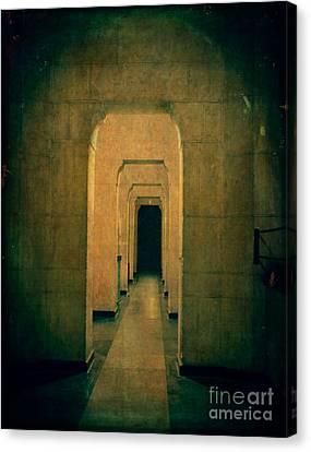 Dark Sinister Hallway Canvas Print by Edward Fielding