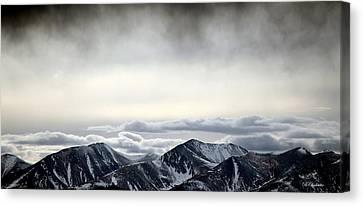 Dark Storm Cloud Mist  Canvas Print by Barbara Chichester