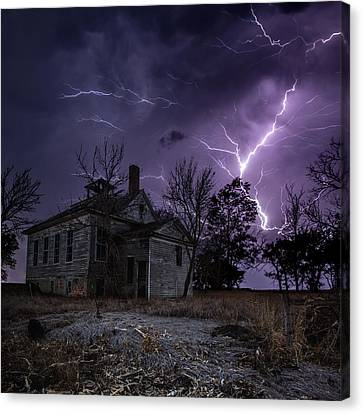 Dark Stormy Place Canvas Print by Aaron J Groen
