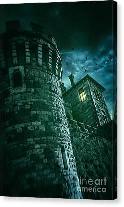 Dark Tower Canvas Print by Carlos Caetano