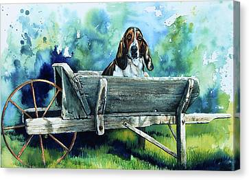 Darn Dog Days Canvas Print by Hanne Lore Koehler