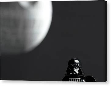 Darth And His Death Star Canvas Print by Samuel Whitton