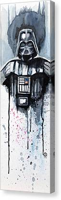 Star Canvas Print featuring the painting Darth Vader by David Kraig
