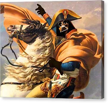 Darth Vader Star Wars Napoleon Painting Canvas Print by Tony Rubino