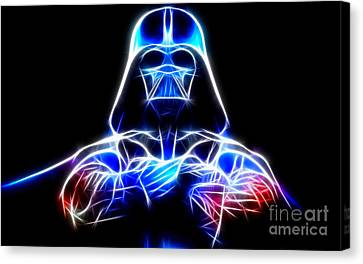 Darth Vader - The Force Be With You Canvas Print by Pamela Johnson