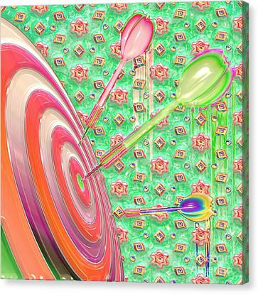 Darts Canvas Print by Liane Wright