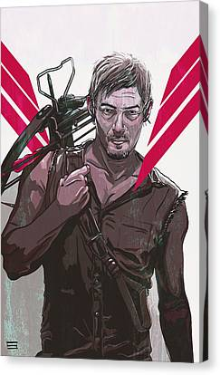 Daryl Dixon Canvas Print by Jeremy Scott